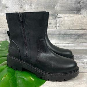 UGG black Polk boot Moto leather